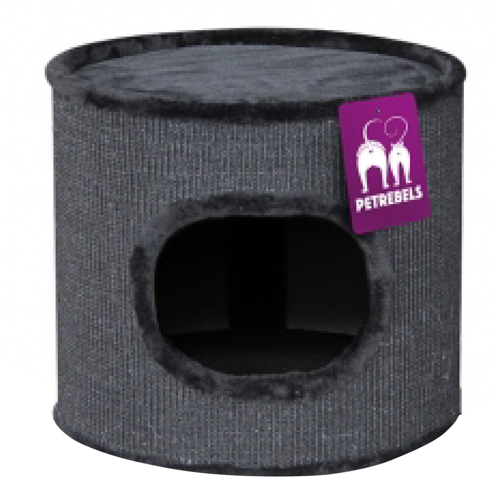 <b>15% OFF:</b> PetRebels Scratching Barrel Dome 40 Black Cat Tree