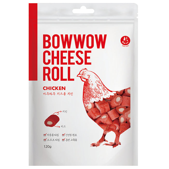 Bow Wow Cheese + Chicken Cheese Roll For Dogs
