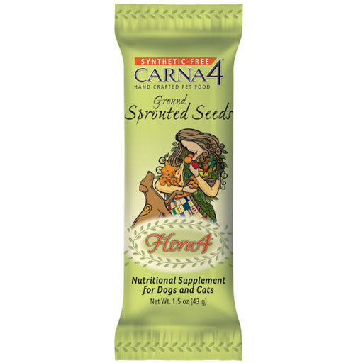 Carna4 Flora4® Ground Sprouted Seeds Food Topper For Dogs