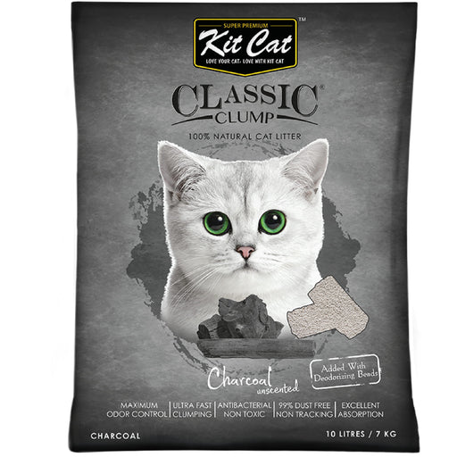 Kit Cat Classic Clump Charcoal (Unscented) Cat Litter
