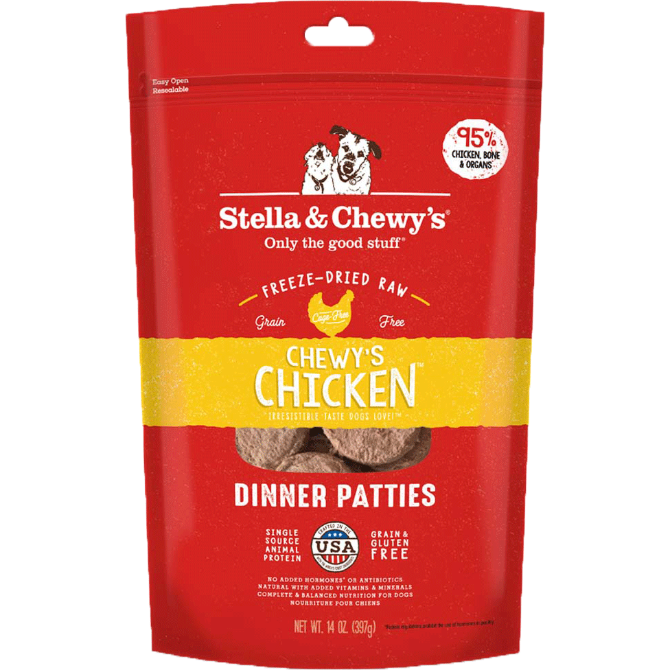 Stella & Chewy's Freeze-Dried Raw Chicken Dinner Patties For Dogs