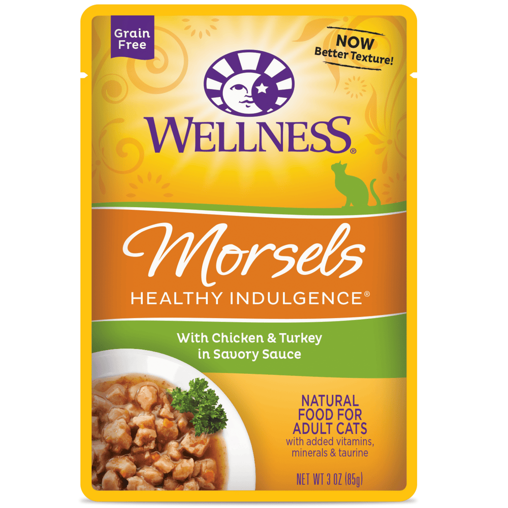 Wellness Healthy Indulgence Grain Free Morsels Chicken & Turkey Wet Cat Food