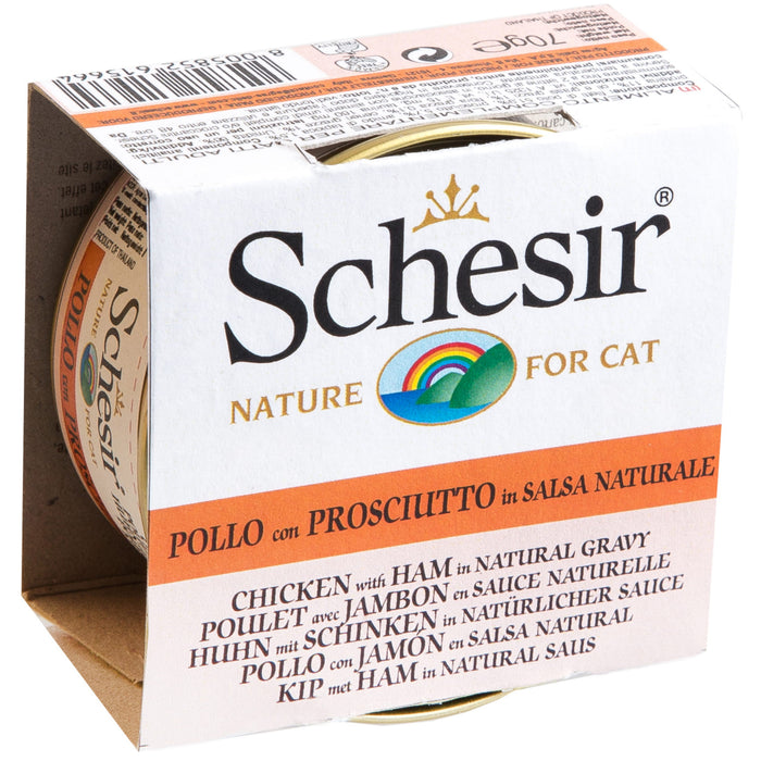 Schesir Grain Free Chicken & Ham In Gravy Wet Cat Food