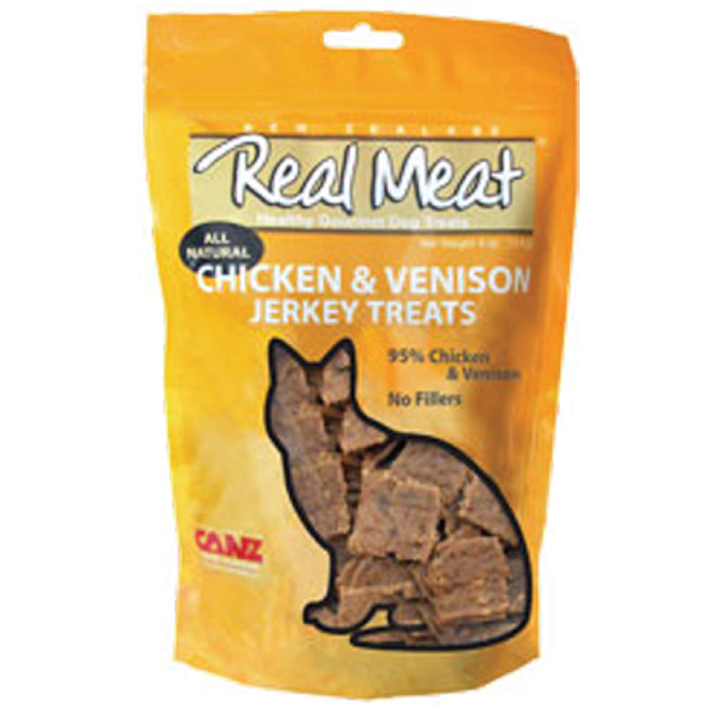 <b>5% OFF:</b> Real Meat Grain Free Chicken & Venison Jerky For Cats