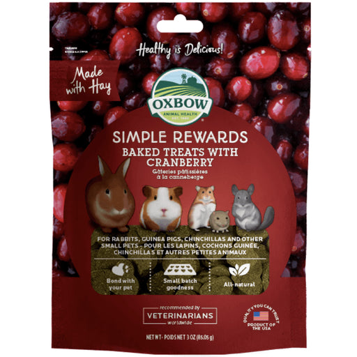 <b>5% OFF:</b> Oxbow Simple Rewards Natural Baked Treats With Cranberry
