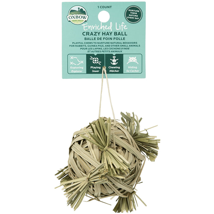 <b>20% OFF:</b> Oxbow Enriched Life Natural Chews Crazy Hay Ball