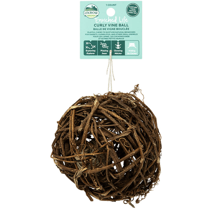 <b>20% OFF:</b> Oxbow Enriched Life Natural Chews Curly Vine Ball