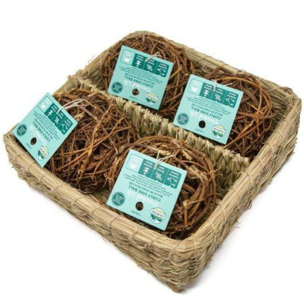 <b>20% OFF:</b> Oxbow Enriched Life Natural Chews Curly Vine Ball Basket