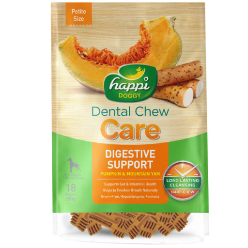 <b>15% OFF:</b> Happi Doggy Digestive Support Pumpkin & Mountain Yam Dental Chews