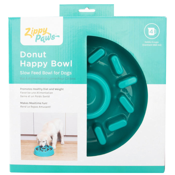 ZippyPaws Donut Happy Slow Feed Bowl