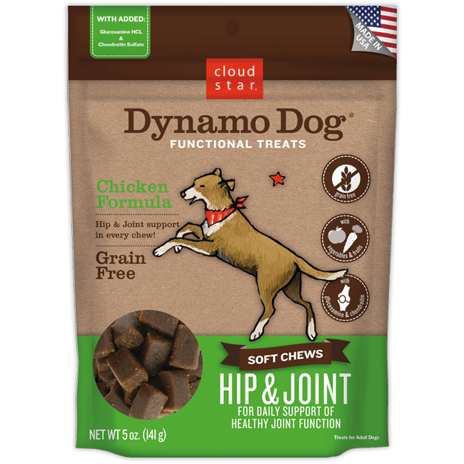 Cloud Star Dynamo Dog Functional Hip & Joint Chicken Soft Chews