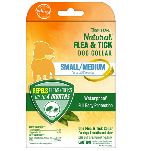 <b>10% OFF:</b> TropiClean Natural Flea & Tick Collar For Small/Medium Dogs