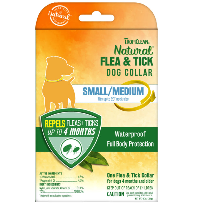 <b>15% OFF:</b> TropiClean Natural Flea & Tick Collar For Small/Medium Dogs