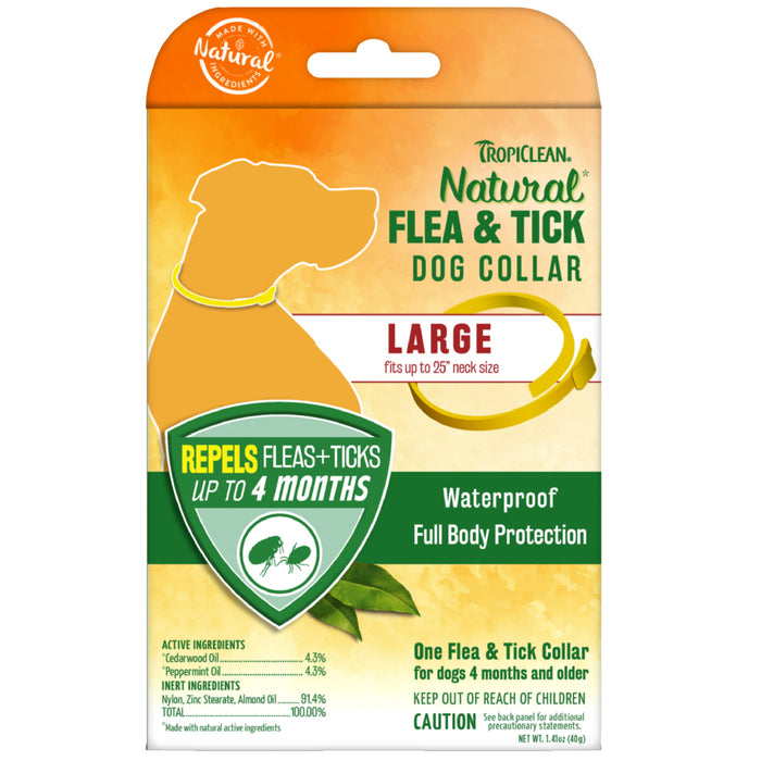 <b>15% OFF:</b> TropiClean Natural Flea & Tick Collar For Large Dogs
