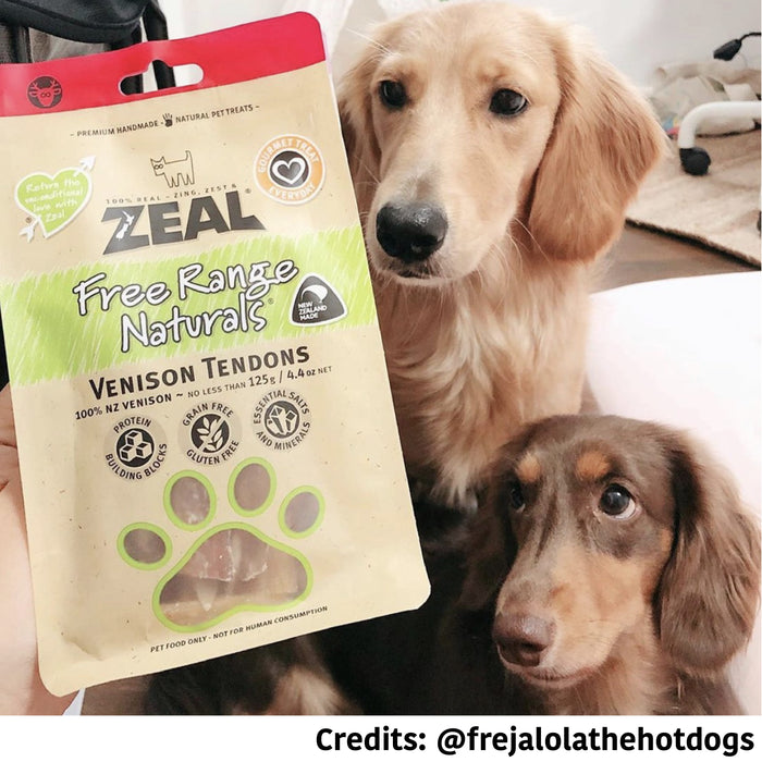 [PAWSOME DEAL] <b>3 FOR $39.80:</b> Zeal Free Range Natural Venison Dog Treats