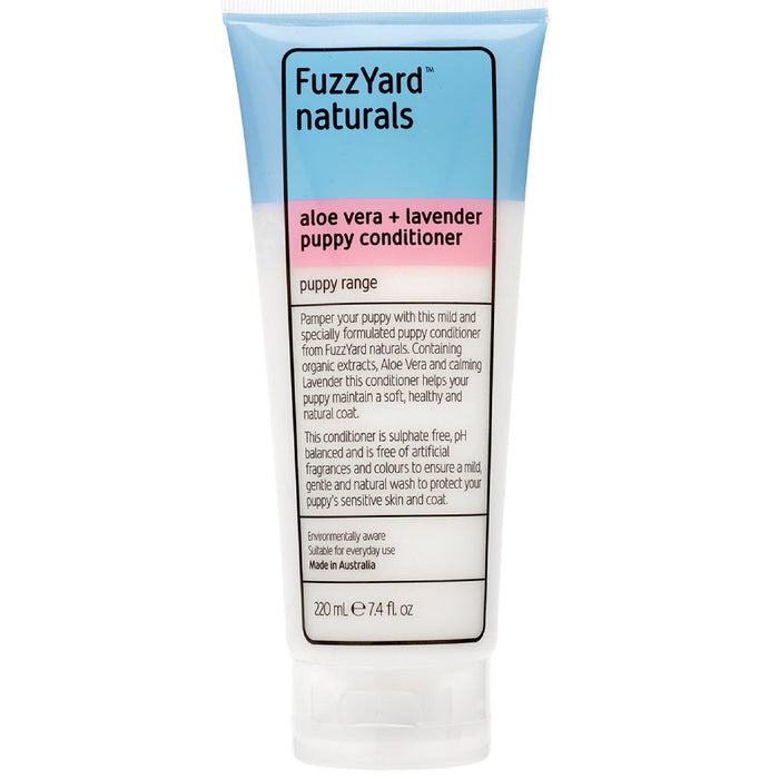 <b>15% OFF:</b> FuzzYard Aloe Vera + Lavender Puppy Conditioner