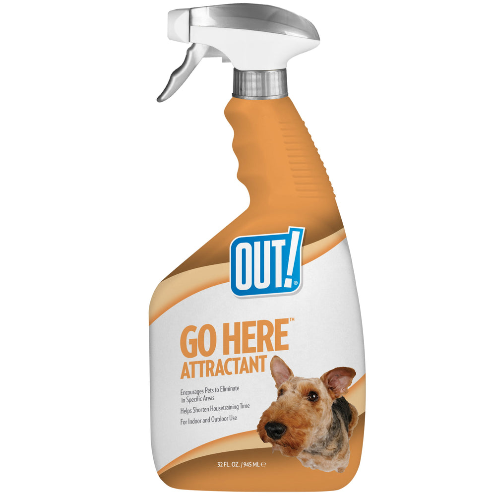 <b>10% OFF:</b> OUT! PetCare Go Here™ Attractant Indoor and Outdoor Dog Training Spray