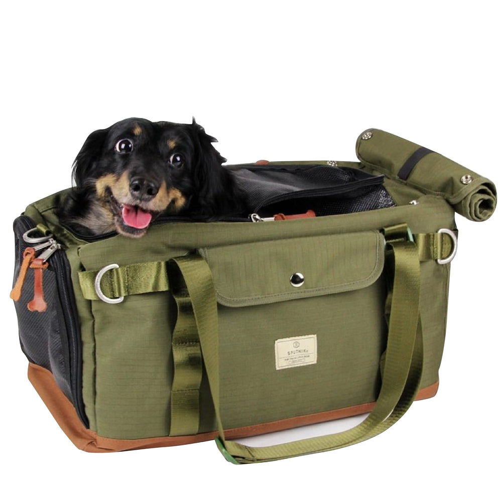 Sputnik Multi Function Green Lightweight Breathable Pet Carrier