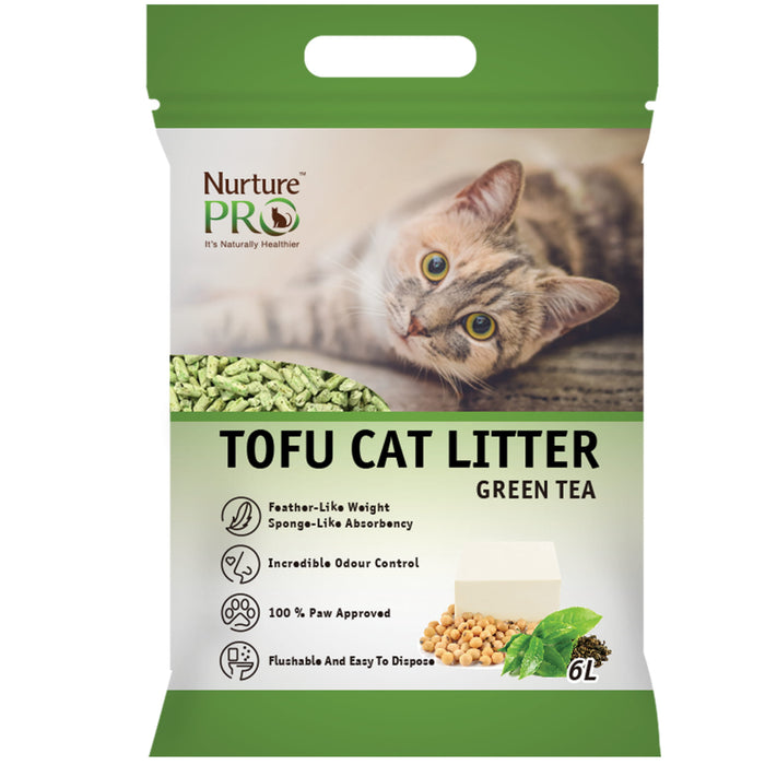 [PAWSOME] <b>2 FOR $15.80/4 FOR $30:</b> Nurture Pro Green Tea Tofu Litter