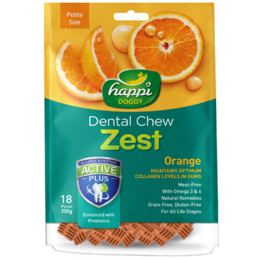 <b>15% OFF:</b> Happi Doggy Orange Dental Chews