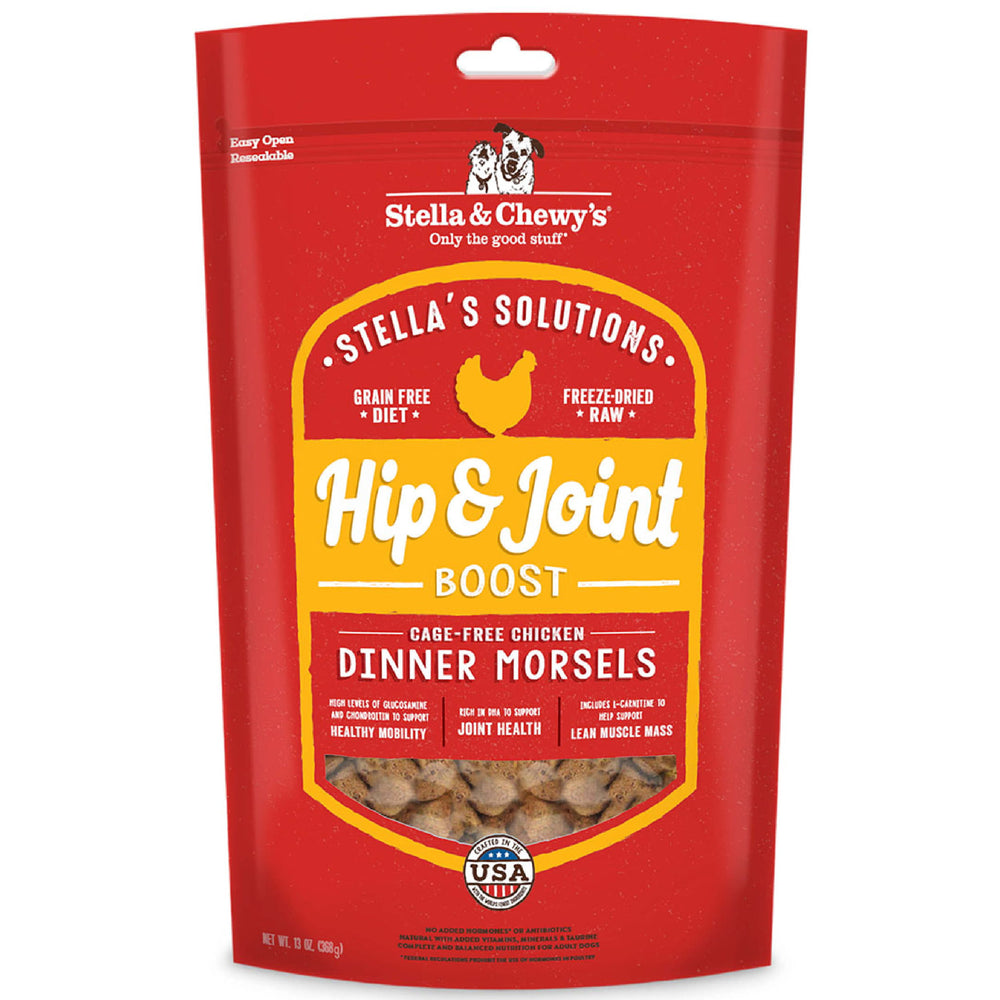 Stella & Chewy Stella's Solution Hip & Joint Boost With Freeze Dried Raw Chicken Dinner Morsels For Dogs