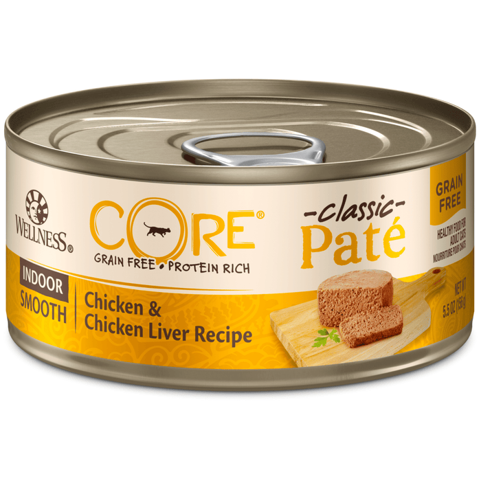 <b>15% OFF:</b> Wellness CORE Grain Free Pâté Indoor Chicken & Chicken Liver Recipe Wet Cat Food