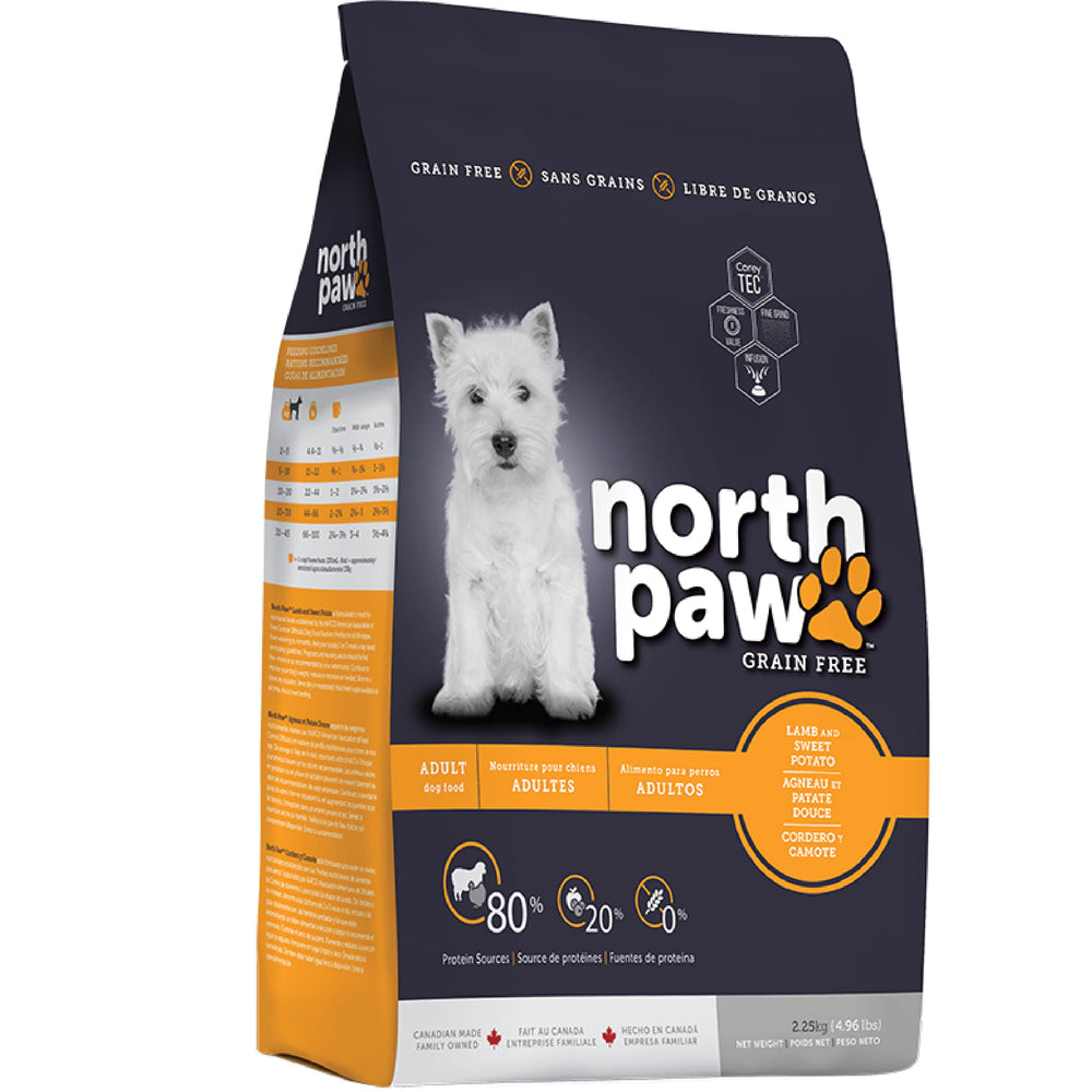 <b>30% OFF + FREE SMALL BAG:</b> North Paw Grain Free Lamb With Sweet Potato Dry Dog Food