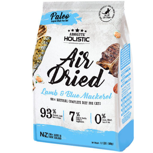 <b>15% OFF:</b> Absolute Holistic Air Dried Lamb & Blue Mackerel Dry Cat Food