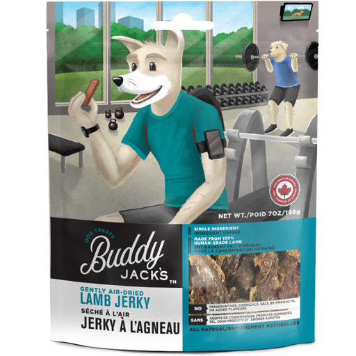 <b>15% OFF:</b> Canadian Jerky Buddy Jack's Gently Air Dried Lamb Jerky Treats For Dogs