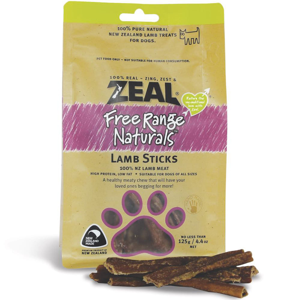 Zeal Free Range Naturals Lamb Sticks For Dogs