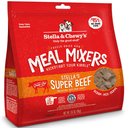 Stella & Chewy's Freeze-Dried Raw Super Beef Meal Mixers For Dogs