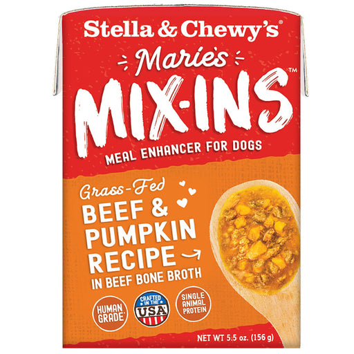 Stella & Chewy's Grain Free Marie's Mix-Ins Grass-Fed Beef & Pumpkin Recipe For Dogs