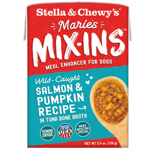 Stella & Chewy's Grain Free Marie's Mix-Ins Wild-Caught Salmon & Pumpkin Recipe For Dogs