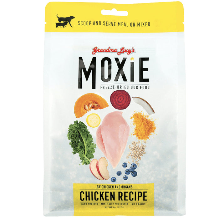 <b>10% OFF:</b> Grandma Lucy's Moxie Freeze Dried Chicken Recipe Dog Food