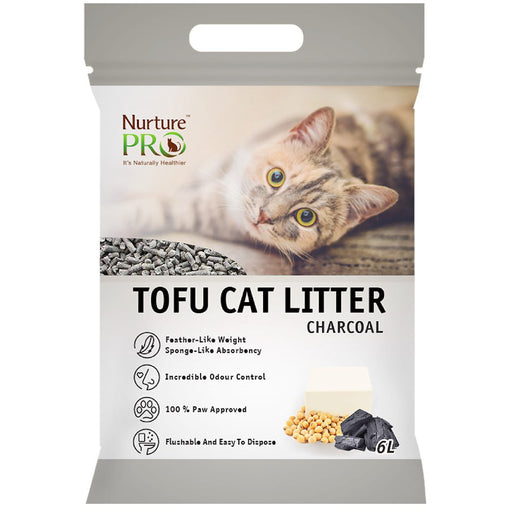 [PAWSOME] <b>2 FOR $15.80/4 FOR $30:</b> Nurture Pro Charcoal Tofu Litter