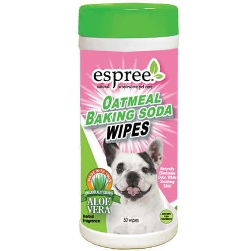 <b>15% OFF:</b> Espree Oatmeal Baking Soda Wipes For Dogs