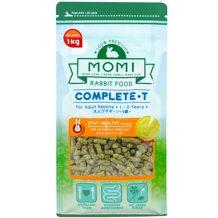 <b>10% OFF:</b> Momi Complete-T Pellets For Adult Rabbit