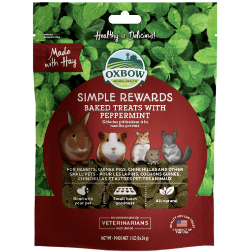 <b>5% OFF:</b> Oxbow Simple Rewards Natural Baked Treats With Peppermint