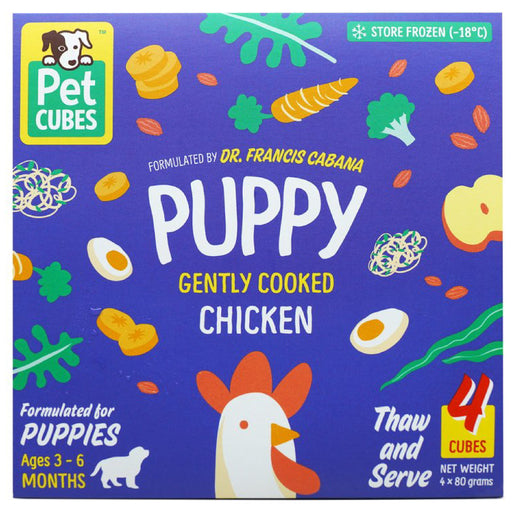 <b>5% OFF:</b> Pet Cubes Complete Gently Cooked Chicken Fresh Food For Puppy (<b>FROZEN</b>)