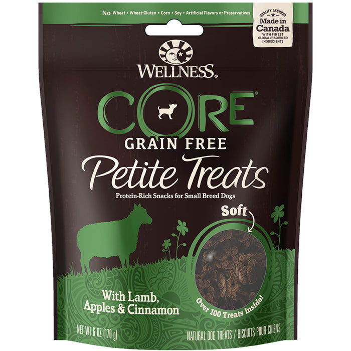 <b>20% OFF:</b> Wellness CORE Petite Treats Grain Free Crunchy Lamb, Apples & Cinnamon Mini Bites