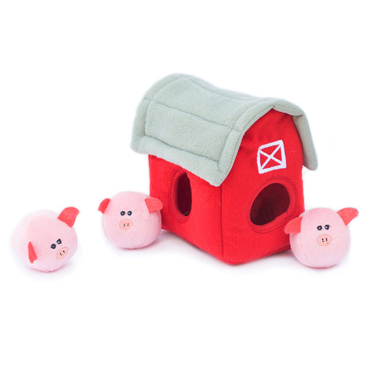 ZippyPaws Zippy Burrow - Burrow Pig Barn with Bubble Babiez