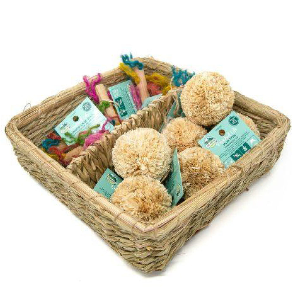 <b>20% OFF:</b> Oxbow Enriched Life Natural Chews Play Pom & Rainbow Knot Stick Basket