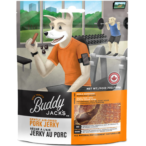 <b>15% OFF:</b> Canadian Jerky Buddy Jack's Gently Air Dried Pork Jerky Treats For Dogs