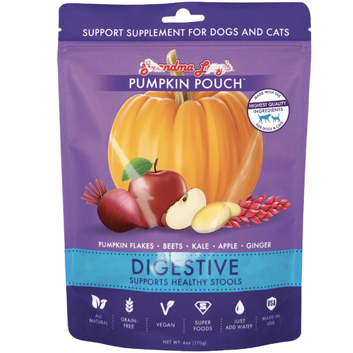 <b>10% OFF:</b> Grandma Lucy's Pumpkin Pouch Digestive (Supports Healthy Stools) Supplement For Dogs & Cats