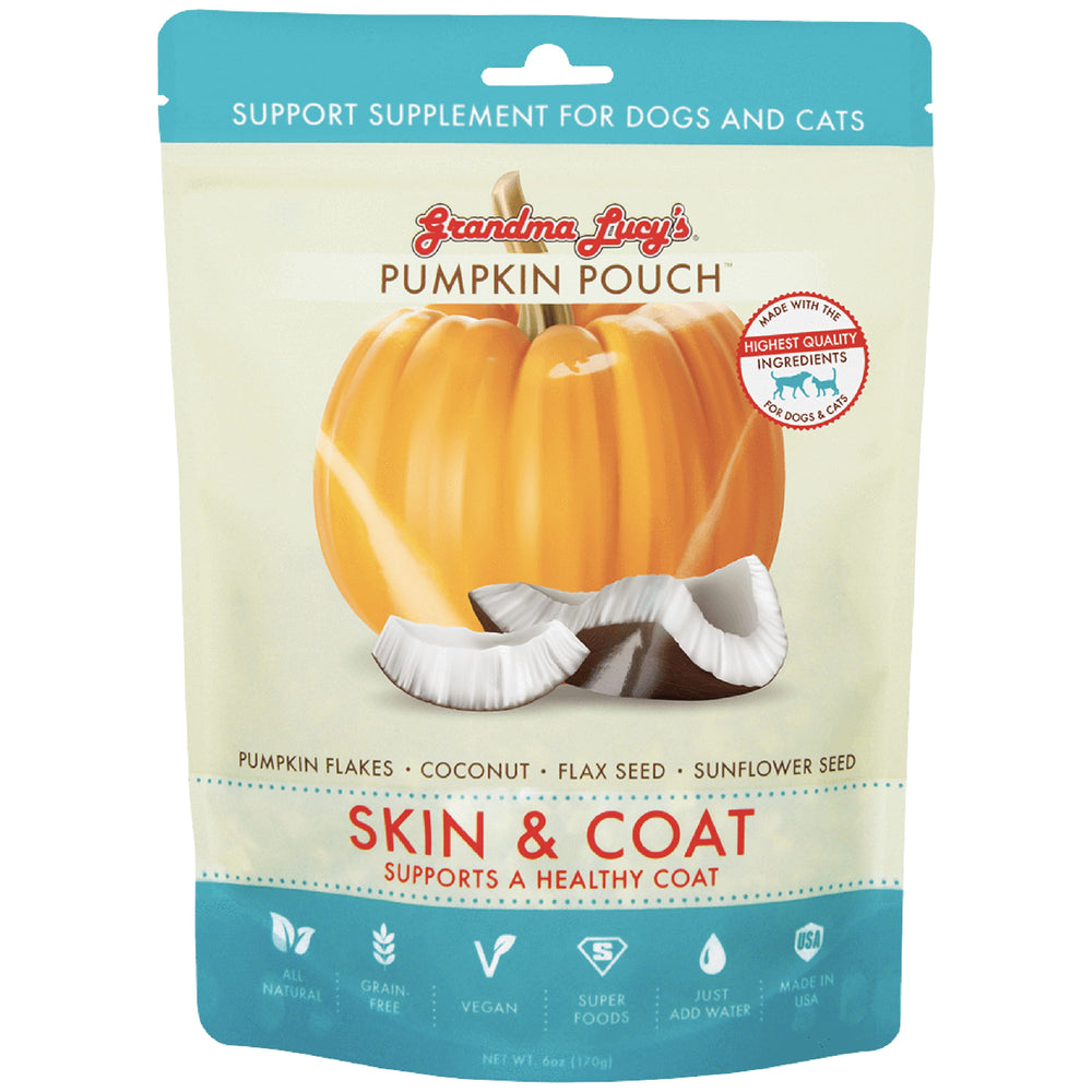 <b>10% OFF:</b> Grandma Lucy's Pumpkin Pouch Skin & Coat (Supports Healthy Coat) Supplement For Dogs & Cats