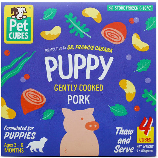 <b>5% OFF:</b> Pet Cubes Complete Gently Cooked Pork Fresh Food For Puppy (<b>FROZEN</b>)