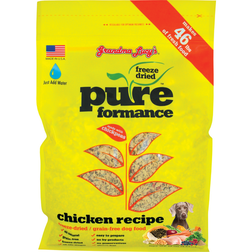 <b>10% OFF:</b> Grandma Lucy's Pureformance Freeze Dried Chicken Dog Food