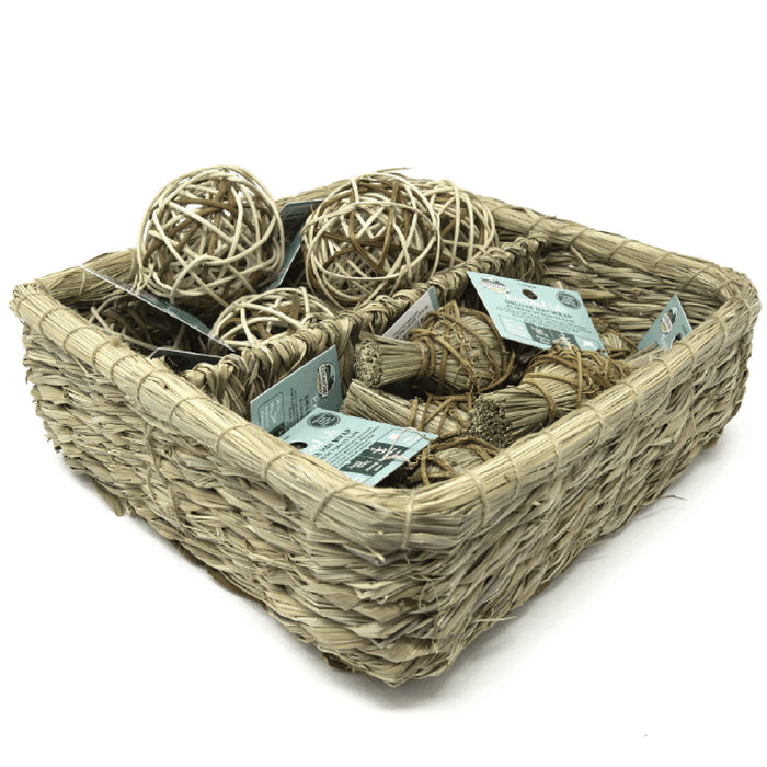 <b>20% OFF:</b> Oxbow Enriched Life Natural Chews Deluxe Hay Wrap & Rattan Ball Basket