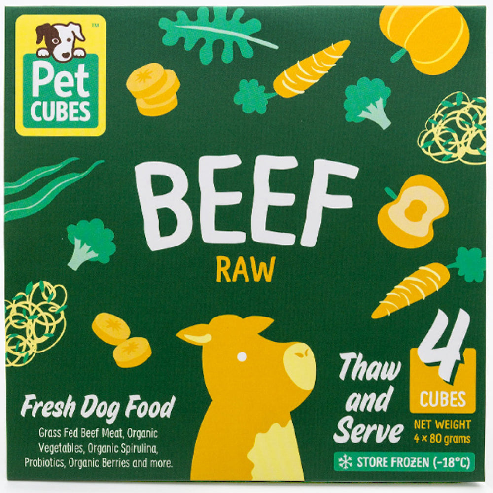 <b>5% OFF:</b> Pet Cubes Raw Beef Fresh Food For Dogs (<b>FROZEN</b>)