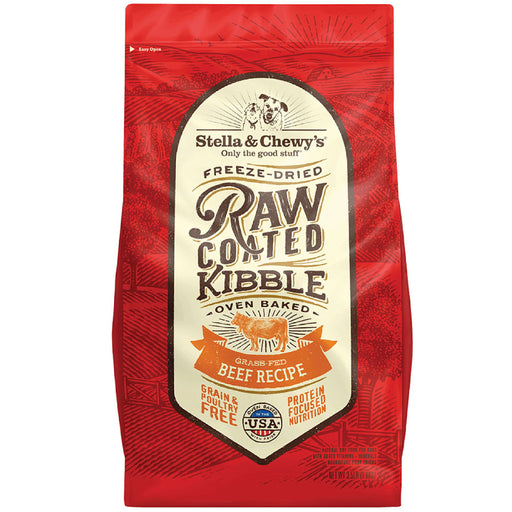 <b>15% OFF + FREE WET FOOD: </b> Stella & Chewy's Raw Coated Beef Recipe Adult Dry Dog Food